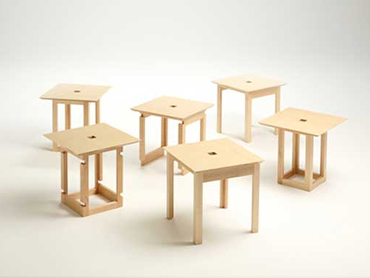 Incredible Cube 6 Naho Matsunos Clever Wood Cube Transforms Into Six Caraccident5 Cool Chair Designs And Ideas Caraccident5Info
