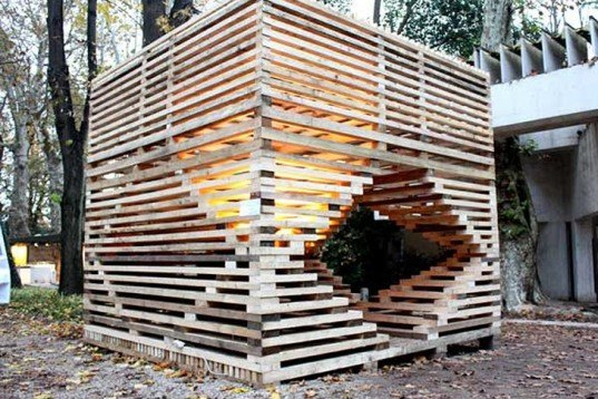 Beautiful Temporary Wooden Architecture