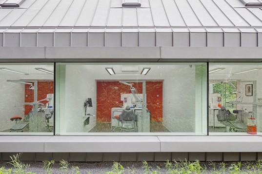 Dental Clinic, Netherlands, Shift Architecture + Urbanism, Rotterdam, Dentist, historical, renovation, landscape, daylighting, nature, green