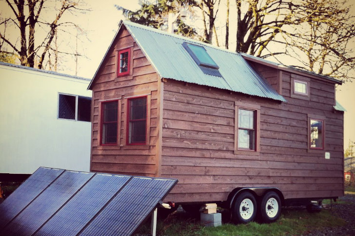 Chris malissa tack s tiny tack house lives large in for Small house plans washington state