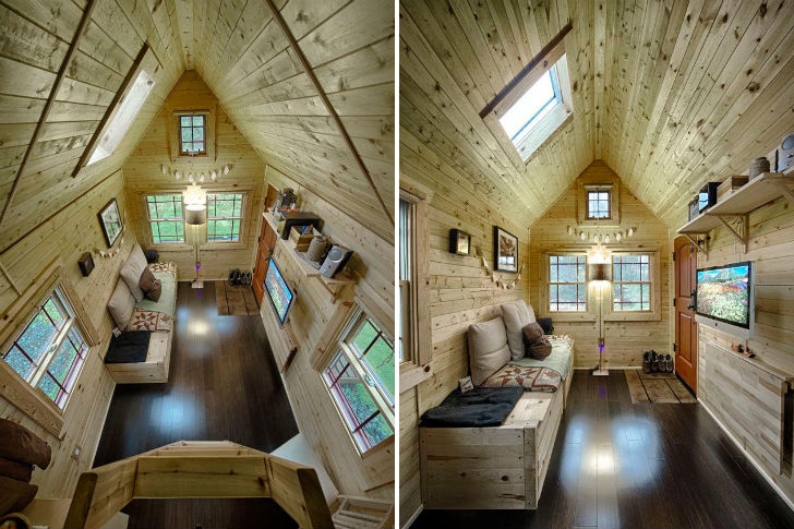 Chris malissa tack 39 s tiny tack house lives large in for Small house plans washington state