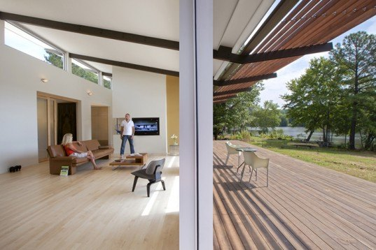 Tonic Design, Smart-Stell House, North Carolina, North Carolina Solar Center, energy efficient, lake views, IPE pipe trellis, crossed ventilation, Architecture, energy efficiency,