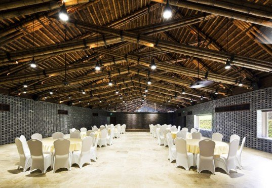Vo Trong Nghia, Flamingo Dai Lai Resort, hanoi, vietnam, locl materials, resort, bamboo, stone, event, Architecture, Botanical, Sustainable Building, Recycling / Compost, Green Materials, green Interiors,