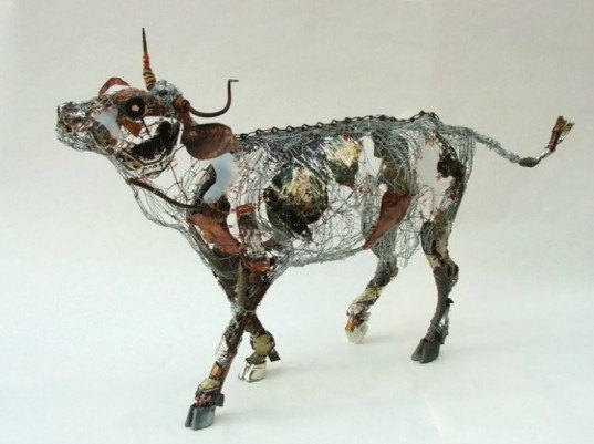 barbara franc, recycled materials, green design, sustainable design, eco art, discarded objects