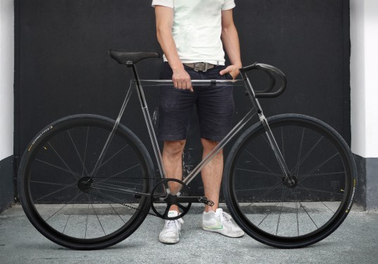 clarity bike, transparent, concept, germany, designaffairs, transportation, green design, eco, sustainable, trivex, road bike, fixie