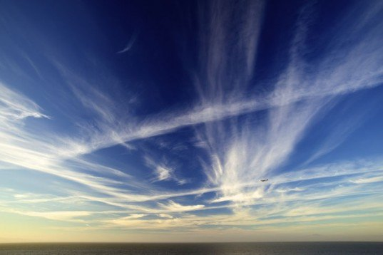clouds, wispy clouds, stratospheric clouds, sky,