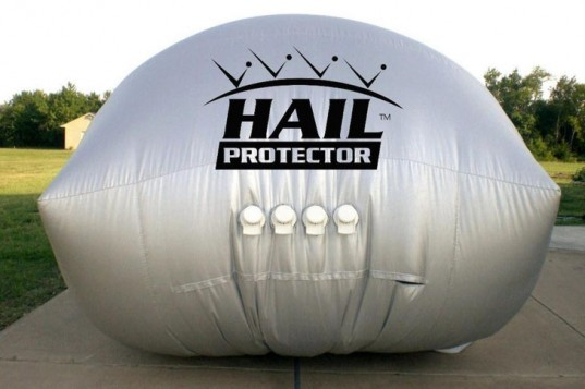 The Hail Protector, hail damage, external airbag, Hail Storm Products, hail damaged car