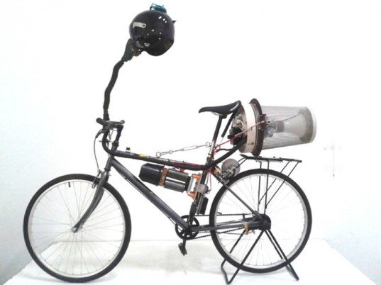matt hope, beijing, breathing bike, air pollution, pedal powered