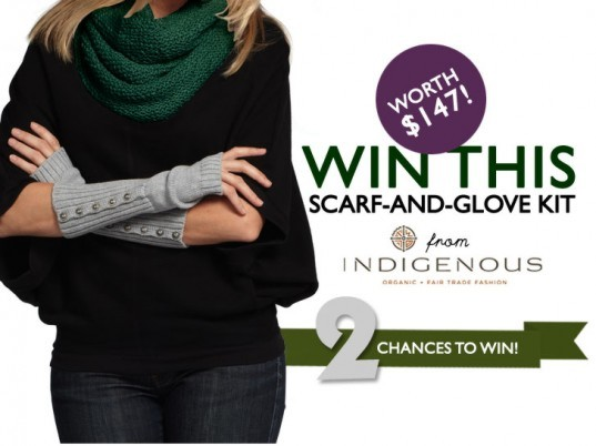 eco-fashion, eco-fashion giveaways, Eco-Friendly Accessories, eco-friendly gloves, eco-friendly knits, eco-friendly knitwear, eco-friendly scarves, ethical fashion, ethical scarves, Fair Trade, fair trade scarves, fair-trade clothing, fair-trade fashion, green fashion, Indigenous, Indigenous Designs, organic cotton, sustainable accessories, Sustainable Fashion, sustainable gloves, sustainable knits, sustainable knitwear, sustainable scarves, sustainable style