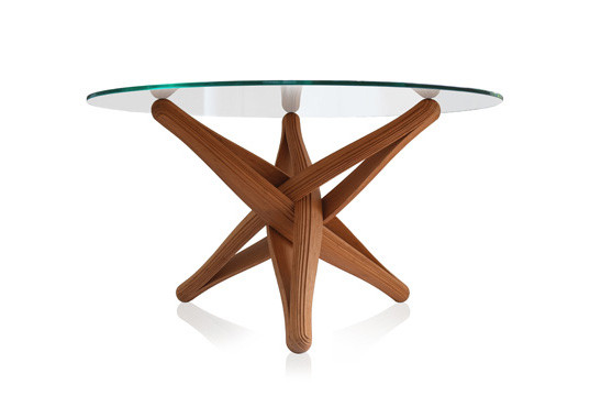 Plankton, Lock dinner, sustainable materials, bamboo table, bamboo furniture, green furniture, eco furniture