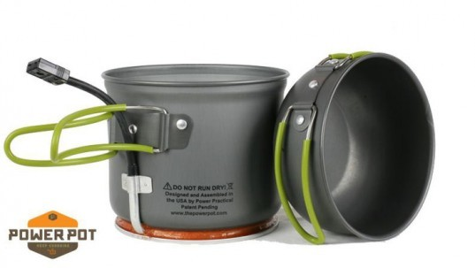 powerpot, charging, usb, electronics, camping, heat, lightweight