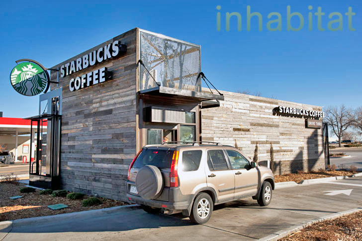 Starbucks Opens Drive Thru Made From Recycled Shipping Containers In