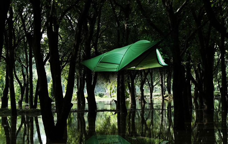 Tentsileu0027s New Stingray Hanging Tent Lets You Sleep Comfortably Suspended in the Trees! & Tentsileu0027s New Stingray Hanging Tent Lets You Sleep Comfortably ...