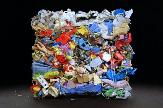 waste materials, Wesley Law, baled, sustainable photography, green art, recycled materials, discarded items,