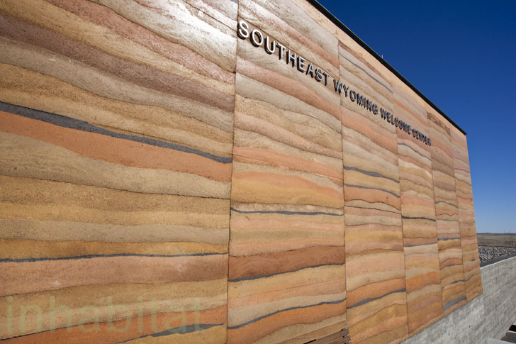 New Rammed Earth Southeast Wyoming Welcome Center