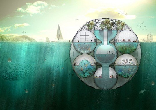 Bloom Phytoplankton Farm, Sitbon Architectes, phytoplankton, floating building, rising sea levels, global warming, carbon dioxide, fresh water, Architizer A+Awards, carbon footprint, water issues, marine life