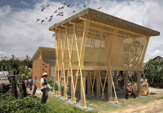Nature Friendly Bamboo House Design: Building Trust International Cambodia Design Competition