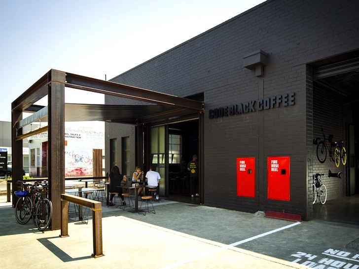 Code black coffee two melbourne warehouses merge to - Commercial interior design codes ...