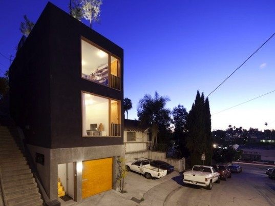Anonymous Architects, Echo Park, daylighting, narrow home and office, Eel's Nest, Los Angeles, Japanese Design, minimalist design, natural light, daylighting, Big & Small House, green design, urban design, sustainable design, Hollywood sign