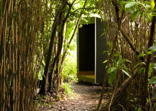 daylighting, low environmental impact, tiny house, forest pond house, TDO Architecture, UK, small design, green design, eco-design, meditation house, play house, sustainable design