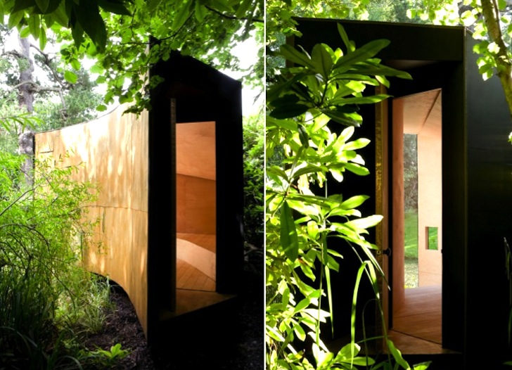 A Tranquil Forest Pond Tiny House