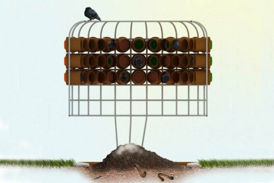 Jean-Sébastien Poncet, fertilizer, Guano de Paris, Frecnh design, terracota, pigeons, vermicompost, Architecture, Animals, Recycling / Compost, Green Materials,
