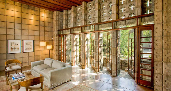 "Frank Lloyd Wright Interiors frank lloyd wright's iconic ""la miniatura"" millard house hits the"