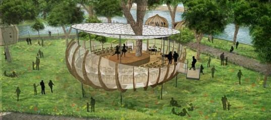 London treehouses, Invisible Works London, urban green spaces, biomimetic design, biomimicry, technology and nature, green design, the invisible city london