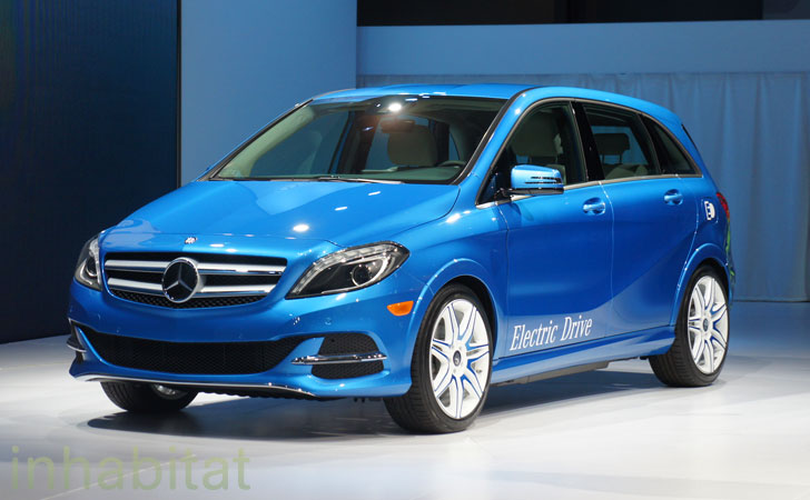 mercedes benz debuts 2014 b class electric drive at the new york auto show inhabitat green. Black Bedroom Furniture Sets. Home Design Ideas