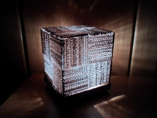 Diy Learn How To Make A Cool Cube Lamp Using Recycled