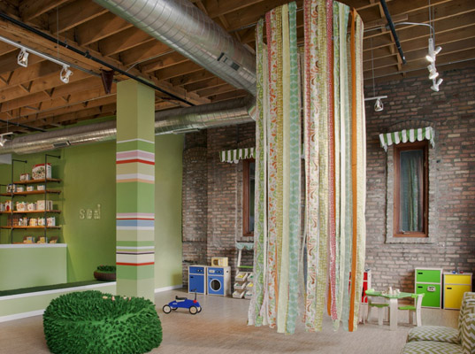 Cynthia Valenciana, Sod Room, recycled materials, Chicago, Jen Talbot, upcycled materials, play space, design, sustainable design, eco-design, green design, children