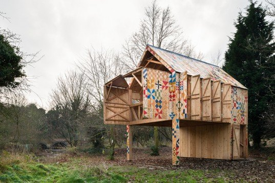 Studio Wave, Ecology of Colour, wooden house, natural dyes, crafts, park, Kent, England, Architecture, Art,