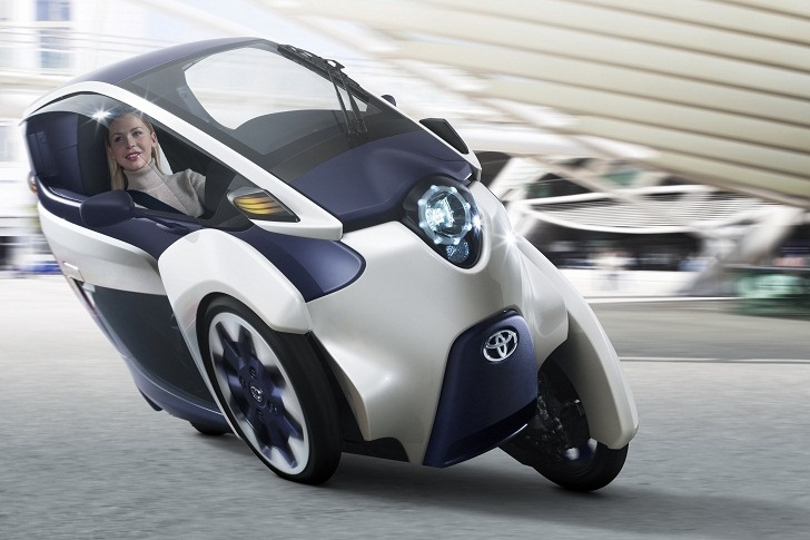 I Road Toyota Unveils Three Wheeled All Electric Vehicle Ahead Of Geneva Motor Show