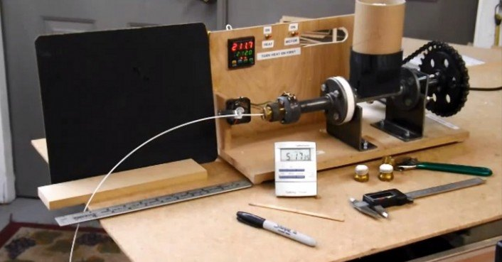 83 year old inventor designs inexpensive open source filament extruder to cut the cost of 3d. Black Bedroom Furniture Sets. Home Design Ideas
