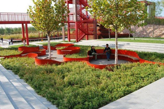 Turenscape, regenerative landscape design, garbage dump, low-maintenance, Tianjin, china, rainwater recycling, native plants, Botanical, Green renovation