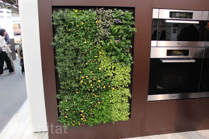 Miele Brings A Green-Walled Kitchen And Massive Herb Garden To The