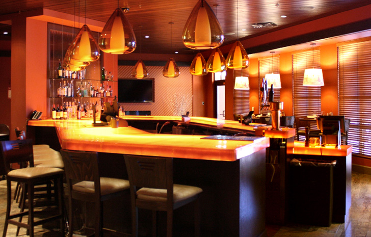 elemental led low-output led-strip light in casino bar « Inhabitat ...