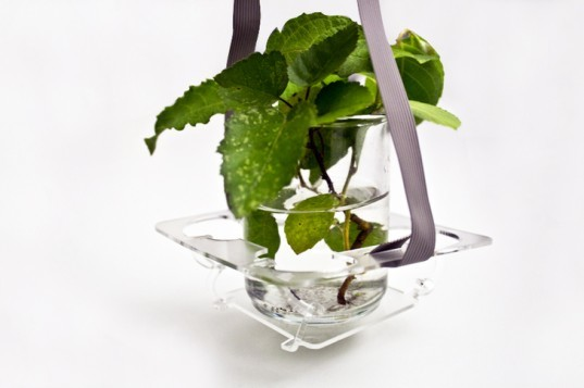 LaserOrigami, plant holder, planter, vase, laser cutter, laserorigami plant holder