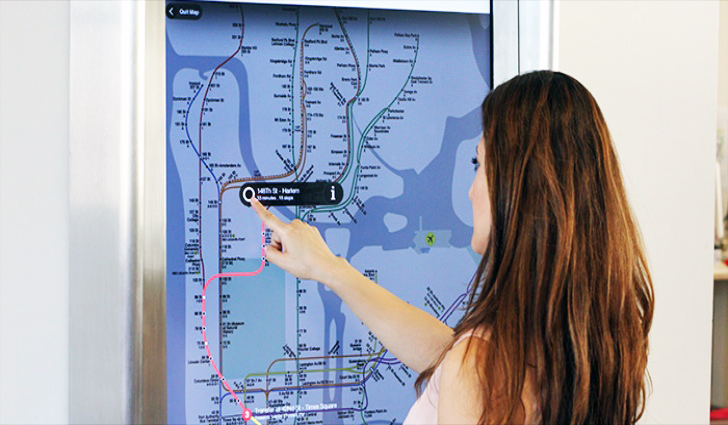 Subway Map Sign.Nyc Straphangers Rejoice Mta Rolls Out New High Tech Touch Screen