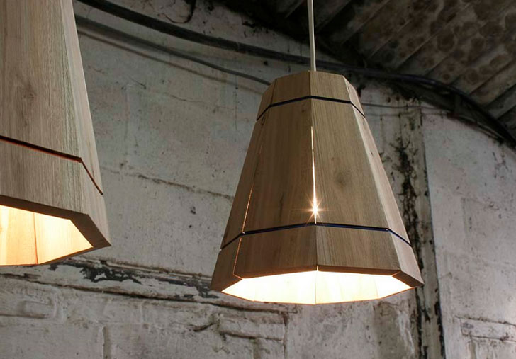 FactoryTwentyOneu0027s Handmade Lampshades Are Constructed From Discarded  Shipping Pallets