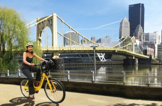 Pittsburgh, Pennsylvania, bike sharing, bike shares, alternative transportation, transportation, public transportation, bike commuting, carbon emissions