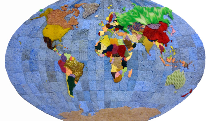 Jeffrey allen price upcycles old sponges into soft geographical maps design gumiabroncs Choice Image