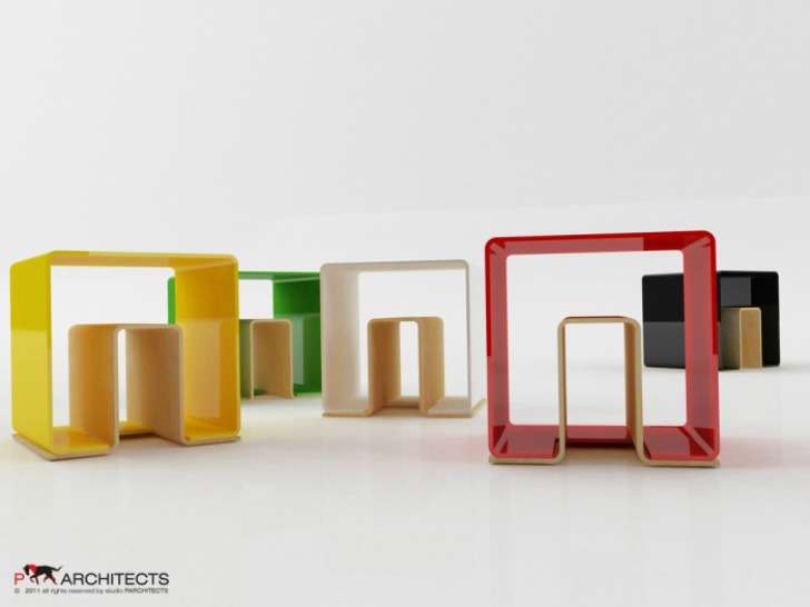 furniture multifunction. UN STOOL: Colorful Modular Furniture For Every Need In Your Home Multifunction
