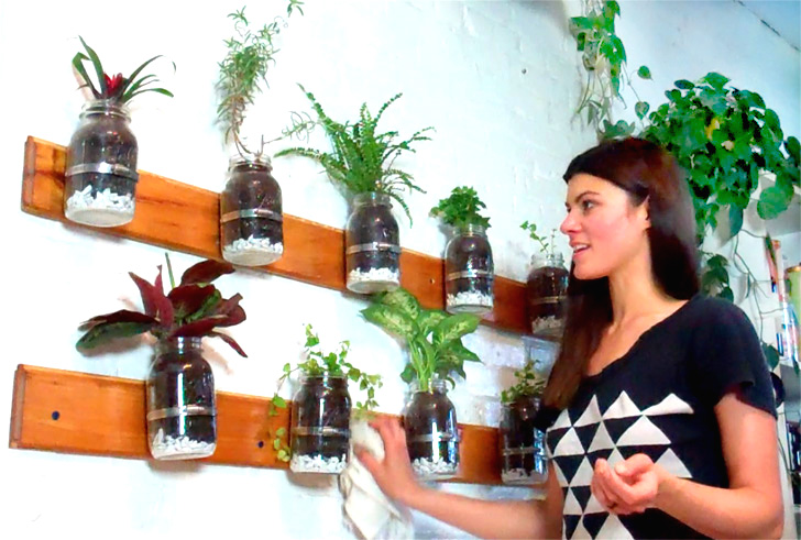DIY VIDEO: How to Make a Mason Jar Herb Garden with Model Summer Rayne Oakes