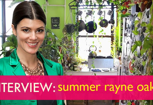 Summer Rayne Oakes, eco model, model Summer Rayne Oakes, brooklyn real estate, vertical gardens, green nyc, green design, sustainable design, eco design, green walls, planted walls, home vertical garden, diy vertical garden