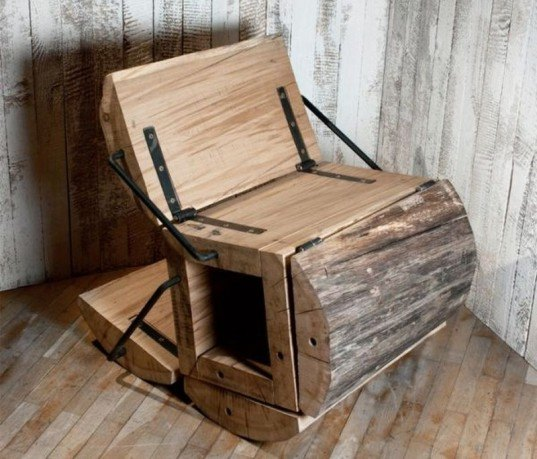 waste less chair, Architecture Uncomfortable Workshop , log chair, recycled wood chair, green furniture, eco furniture, recycled logs, log furniture