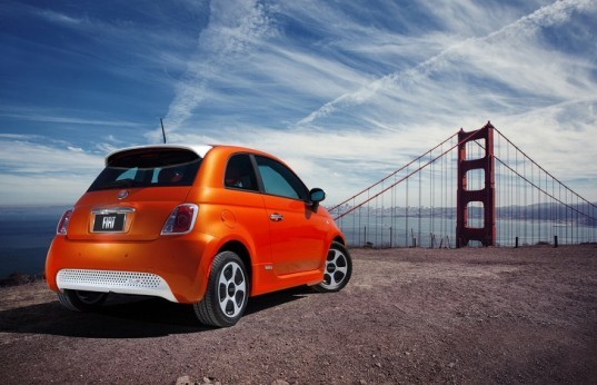 Fiat, Fiat 500e, Fiat 500, electric car, green car, green transportation, electric motor, California, Fiat electric car