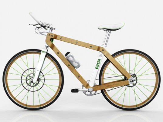 BKR, Wood Bike, Pietro Russomanno, green bike, bicycle, wood bicycle, cycling, green transportation, sustainable design, green design