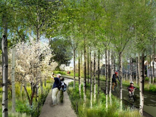 urban park, green transportation, Chicago, sky park, elevated park, green lung, green artery, Mayor, High Line, railway trestle, railway park, Bloomingdale Park and Trail, sustainable design, urban design, eco-design