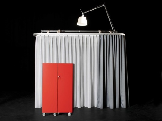 green design, eco design, sustainable design, Milan Design Week, Hotello, Roberto de Luca, Antonio Scarponi, Das konzept, portable office space, pop up office space, pop up hotel room, modular office space, foldable hotel room